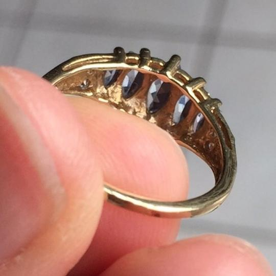 Genuine Amythst in 10K yellow gold ring. Size: 4.75 Image 10