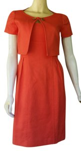Donna Morgan short dress Orange Suit Textured Jacket Cotton Blend on Tradesy