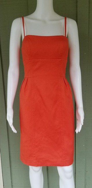 Donna Morgan short dress Orange Suit Textured Jacket Cotton Blend on Tradesy Image 1