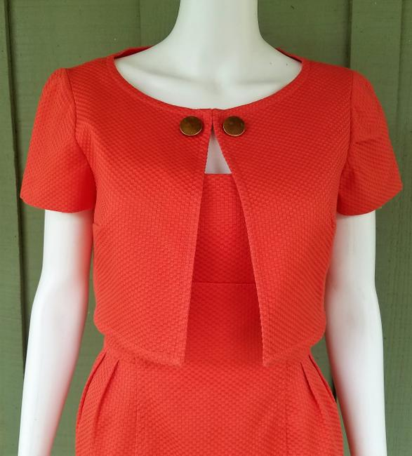 Donna Morgan short dress Orange Suit Textured Jacket Cotton Blend on Tradesy Image 3