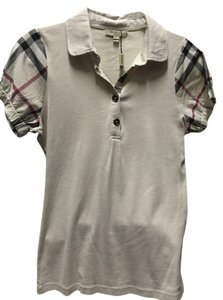 Burberry London Polo Casual T Shirt Cream