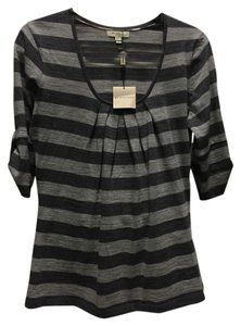 Burberry London Burrberry Striped Sporty Casual T Shirt Grey