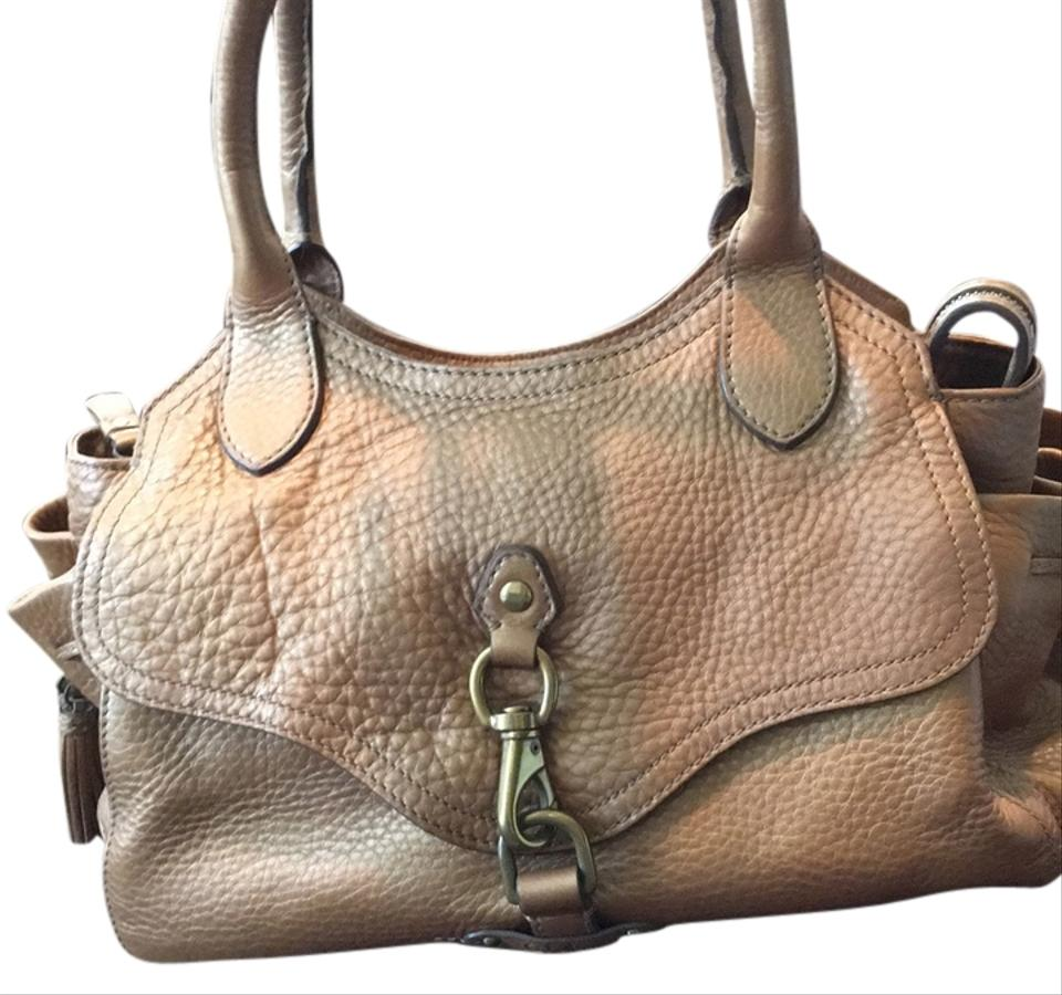 fe5840a751af Cole Haan Gold Pebble Leather Satchel - Tradesy