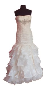 Casablanca Ivory Taffeta Bridal Style 2034 - - Off White (12l) Formal Wedding Dress Size 14 (L)