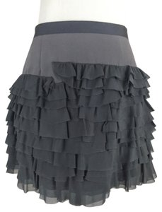 Rebecca Taylor Mini Ruffle Mini Skirt Dark Charcoal