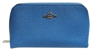 Coach NEW! COACH Crossgrain Leather Cosmetic Case / Makeup Bag