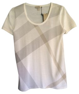 Burberry Brit Nova Check Wool T Shirt Mineral Grey