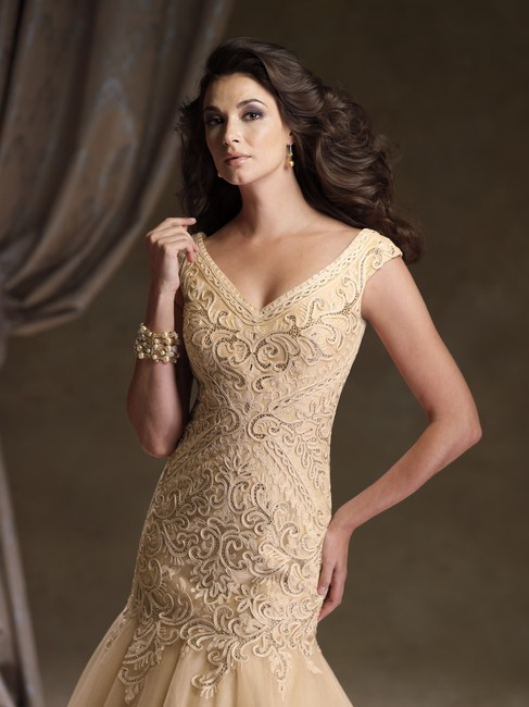 Ivonne D Mermaid Lace Embroidered Dress