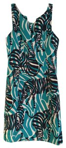 Lilly Pulitzer short dress Bright Navy, White, Teal Printed on Tradesy