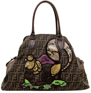 Fendi Tote in Brown, Purple, Green