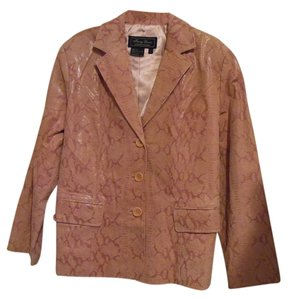 Terry Lewis Classic Luxuries Rose Leather Jacket
