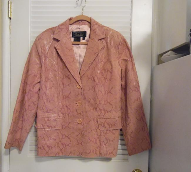 Terry Lewis Classic Luxuries Rose Leather Jacket Image 2