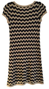 Lilly Pulitzer short dress Navy/Gold Chevron on Tradesy