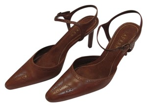 Ralph Lauren Size 6.00 M Leather Padded Footbed Good Condition Brown Sandals