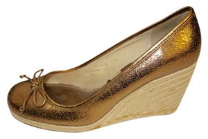 Coach Metallic Bronze Rope Bronze Metallic Wedges