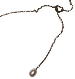 Tiffany & Co. Open Heart Pearl Lariat Necklace