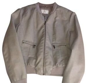 Xhilaration Grey Leather Jacket