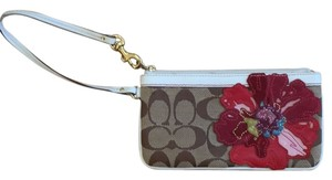 Coach Wristlet in Brown, Multi-color