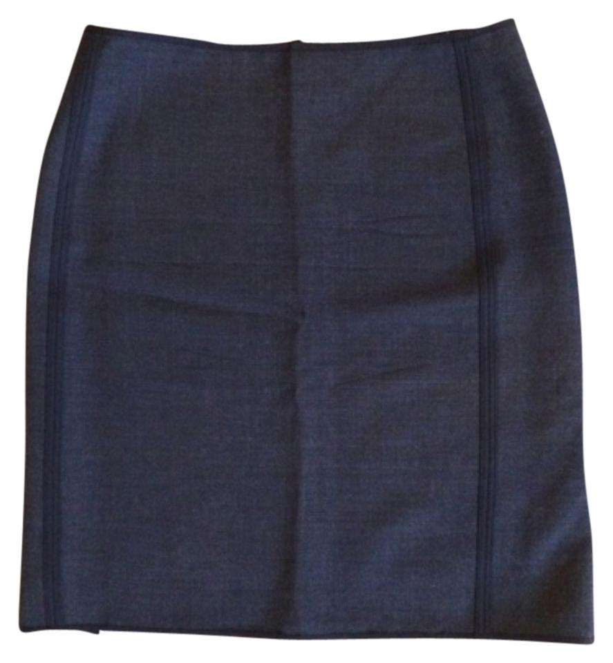 Elie Tahari Revirsable Office Work Skirt Grey Black