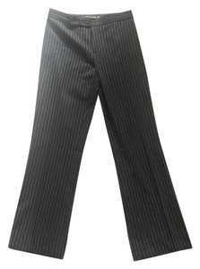 Ralph Lauren Label Suit Stripe Straight Pants Black