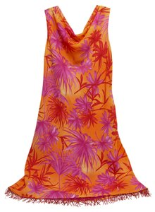 Donna Ricco short dress Orange Fuschia Beaded on Tradesy