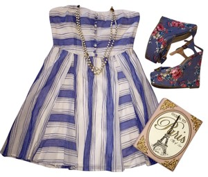 Lucca Couture short dress Blue/White on Tradesy