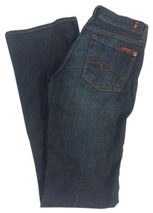 7 For All Mankind Long Classic Wash Boot Cut Jeans-Medium Wash