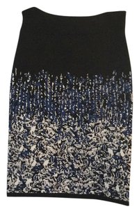 BCBGMAXAZRIA Skirt Black, white, and blue