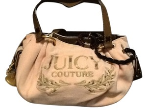 Juicy Couture Satchel in Pink/brown leather trim