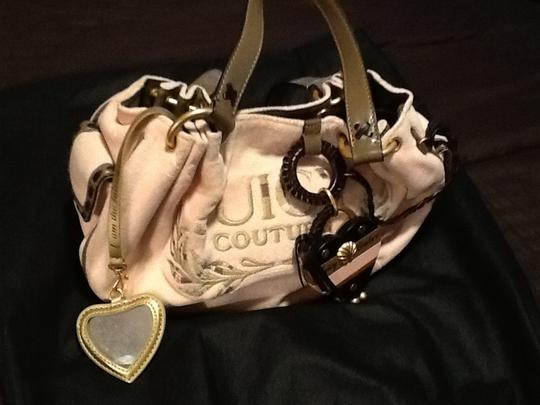 Juicy Couture Satchel in Pink/brown leather trim Image 1