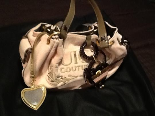 Juicy Couture Satchel in Pink/brown leather trim Image 4