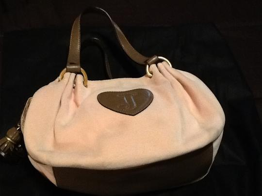 Juicy Couture Satchel in Pink/brown leather trim Image 5
