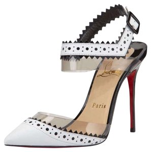 Christian Louboutin White/black Pumps