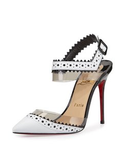 Christian Louboutin D'orsay Chouette 100mm White Pumps