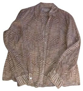 MICHAEL Michael Kors Button Down Shirt Zebra Print
