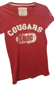 PINK Wsu Collegiate Cotton T Shirt Red