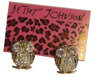 Betsey Johnson Betsey Johnson Gold Owl Stud Earrings E331