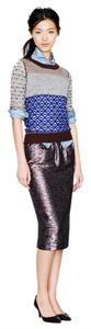 J.Crew Skirt Rush Hour (Metallic Burgundy/Silver)