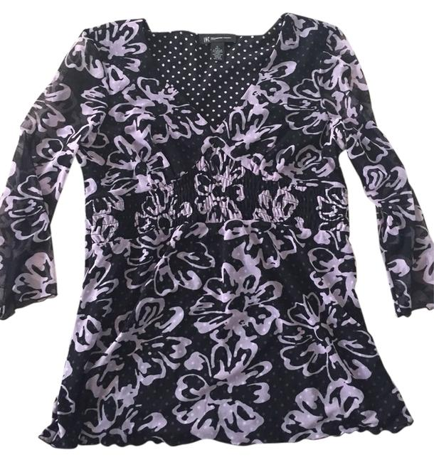 INC International Concepts Top Black And Pink