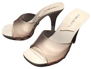 Candie's Studded Summer White and clear Sandals