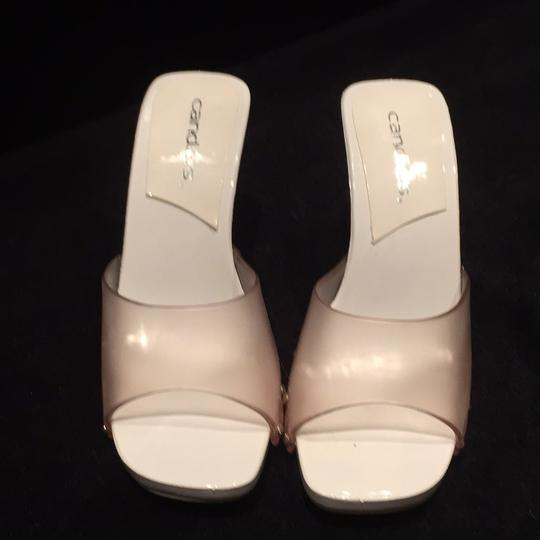Candie's Studded Summer White and clear Sandals Image 1