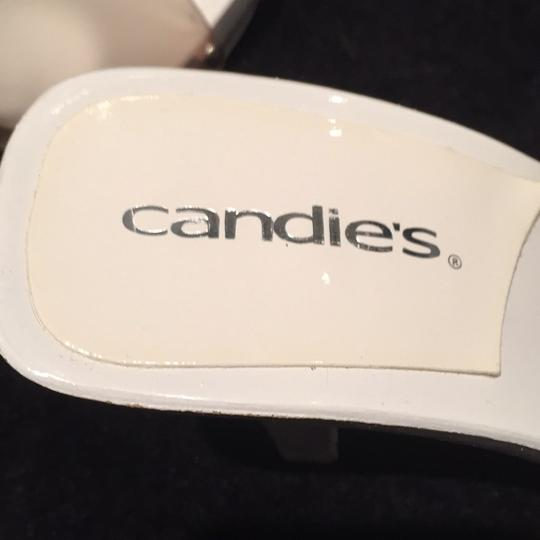 Candie's Studded Summer White and clear Sandals Image 2