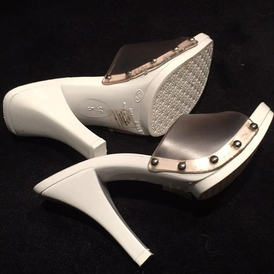 Candie's Studded Summer White and clear Sandals Image 3