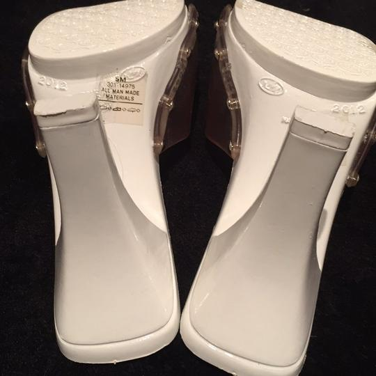Candie's Studded Summer White and clear Sandals Image 6