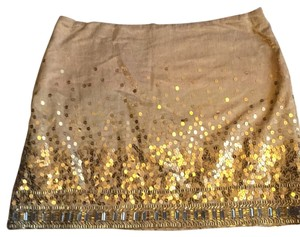 Jennifer Lopez Mini Skirt Gold