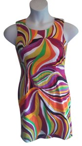j.w treci short dress multi colored on Tradesy