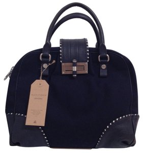 Brooks Brothers Leather Cotton Tote in Navy