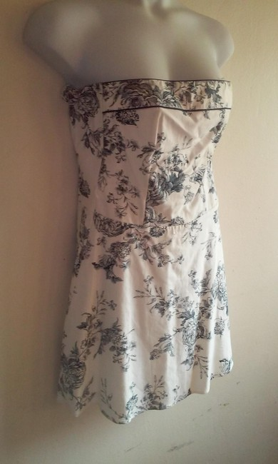 Teeze Me short dress white and blue on Tradesy