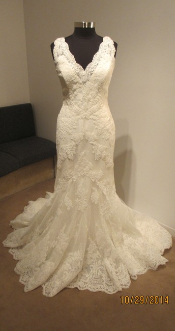 Item - Off White Tulle/Lace Harry Traditional Wedding Dress Size 14 (L)