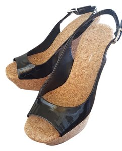 Jessica Simpson Black and cork Wedges